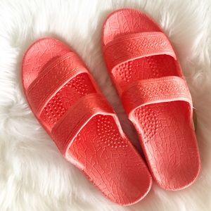 Coral - pink Jesus sandals BRAND NEW